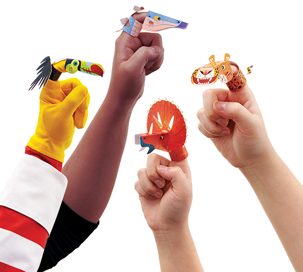 Pop-out and Play Finger Puppets