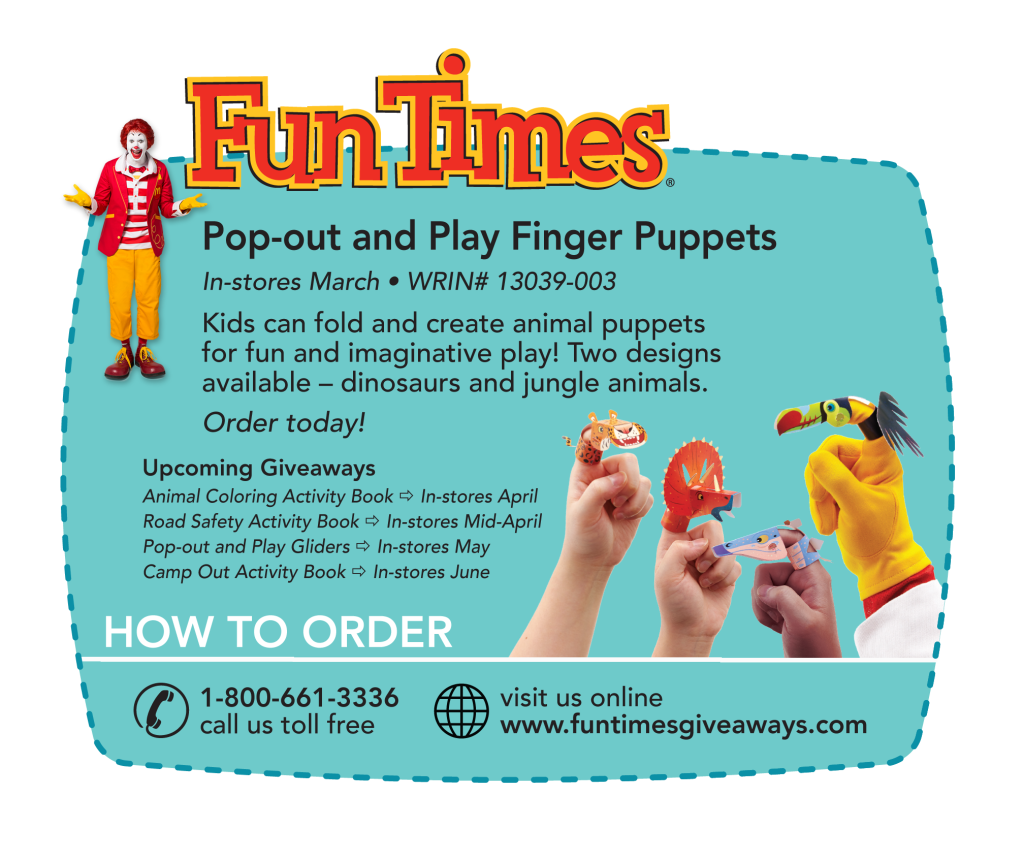 Newsletter - Pop-out and Play Finger Puppets