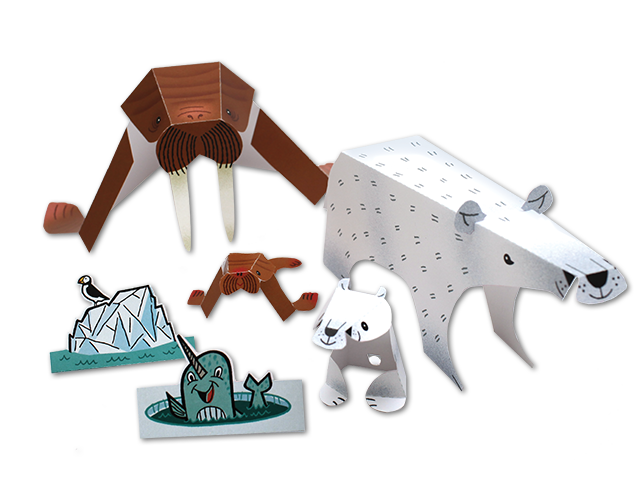 Arctic Animals Pop-out and Play