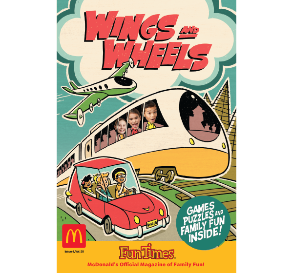 Wings and Wheels Activity Book