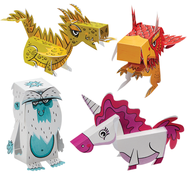 Pop-out and Play Mythical Creatures